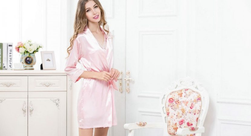 long silk robe women