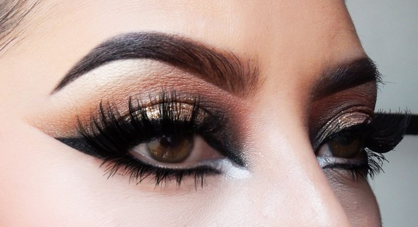 how to make up brown smoky eyes